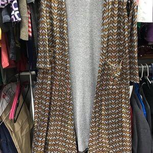 LuLaRoe Sarah Cardigan Gold and Silver NWT Medium